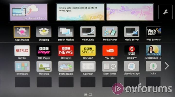 Panasonic Smart TV System 2014 Panasonic Smart TV Apps Screen