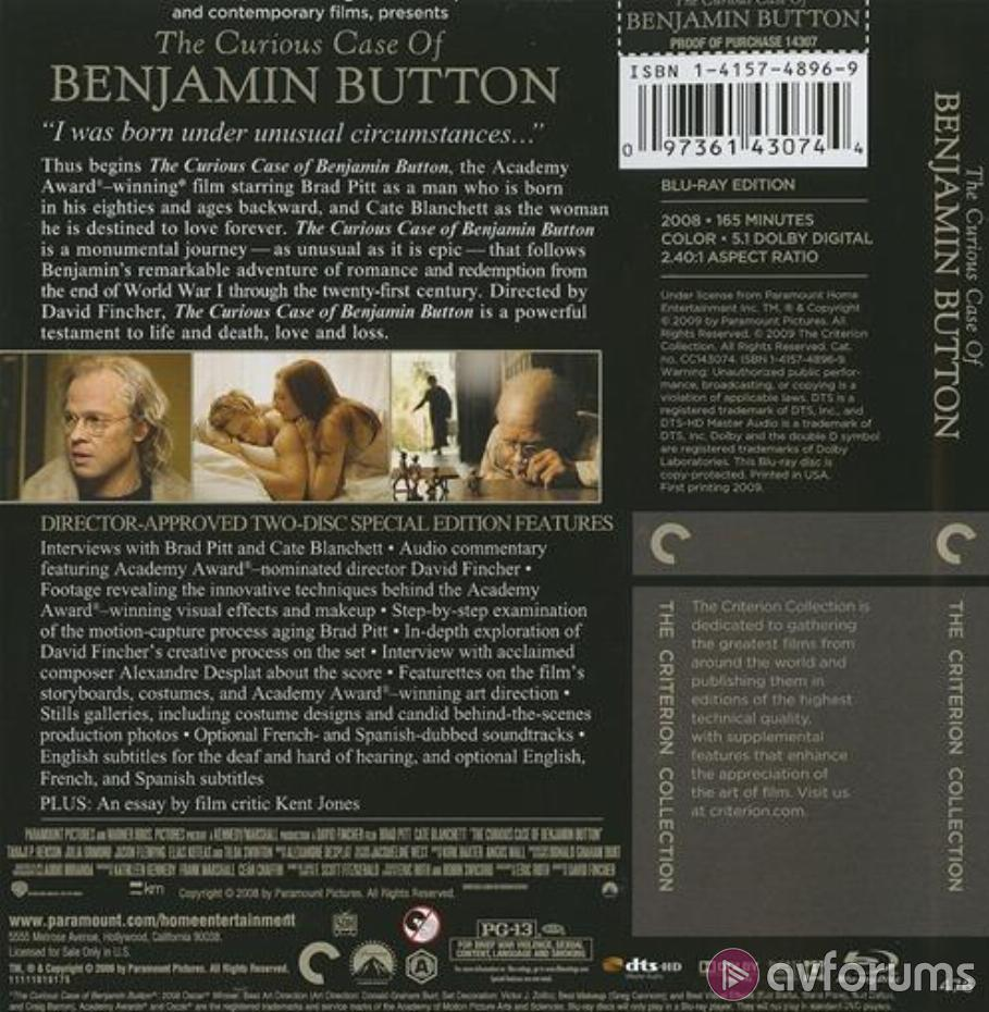 The Curious Case of Benjamin Button Blu-ray Review