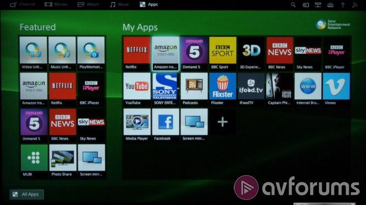 Sony Smart Tv Platform 2014 Review Avforums