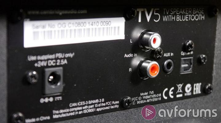 Cambridge Audio TV5 Connections and Control