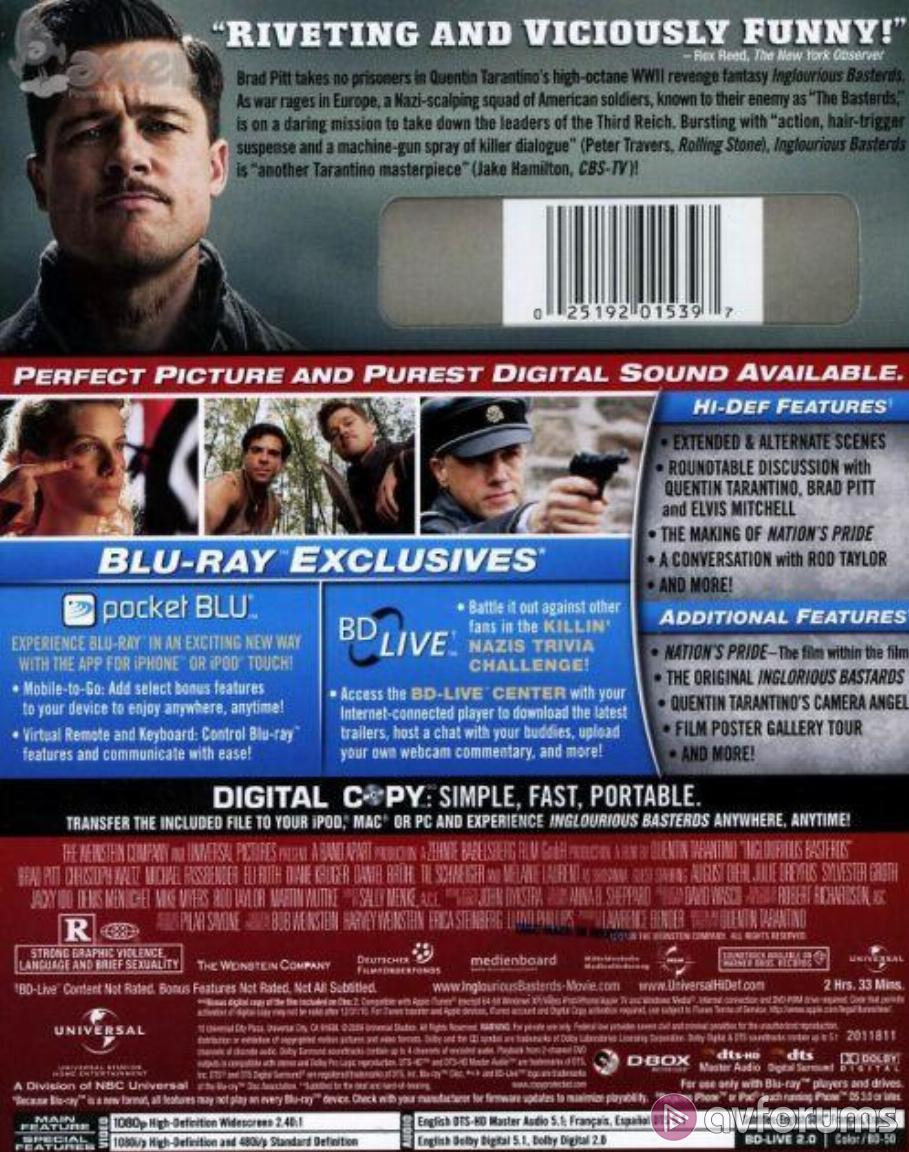 Inglourious Basterds Blu-ray Review
