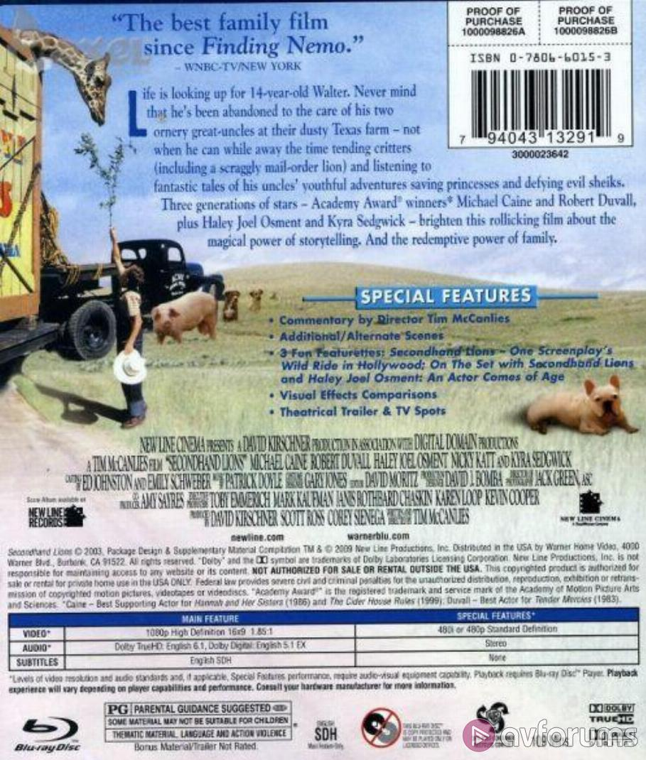 Secondhand Lions Blu-ray Review