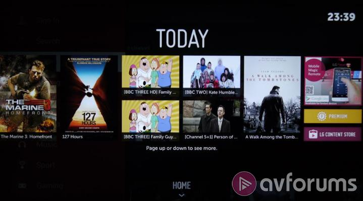 LG WebOS 2.0 EPG & PVR Features