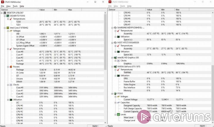 Gigabyte P35X v6 System Temperature and Noise