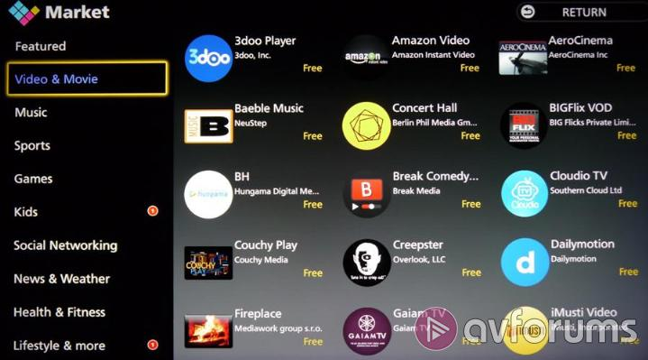 Panasonic Smart TV System 2015 Apps Market