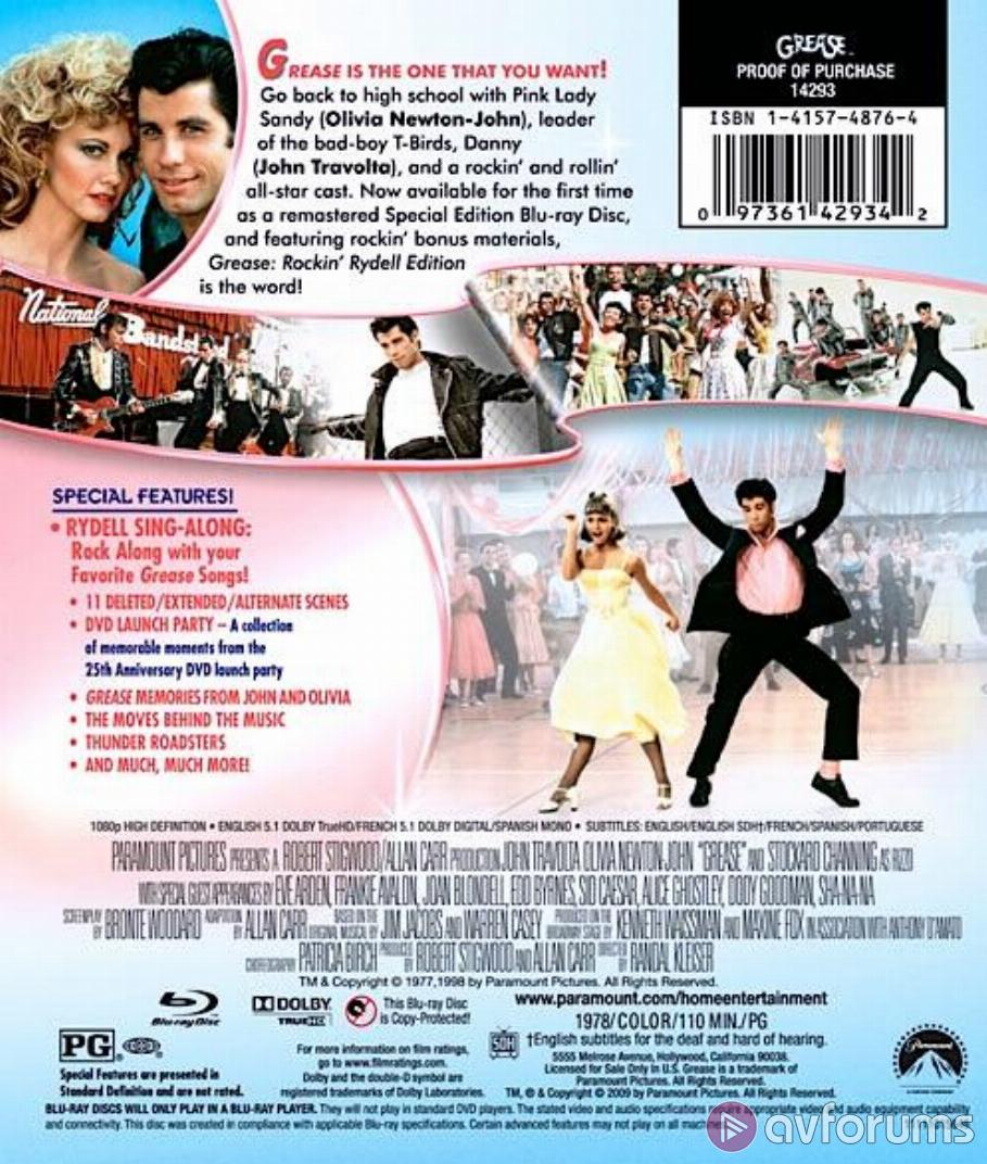 Grease Blu-ray Review