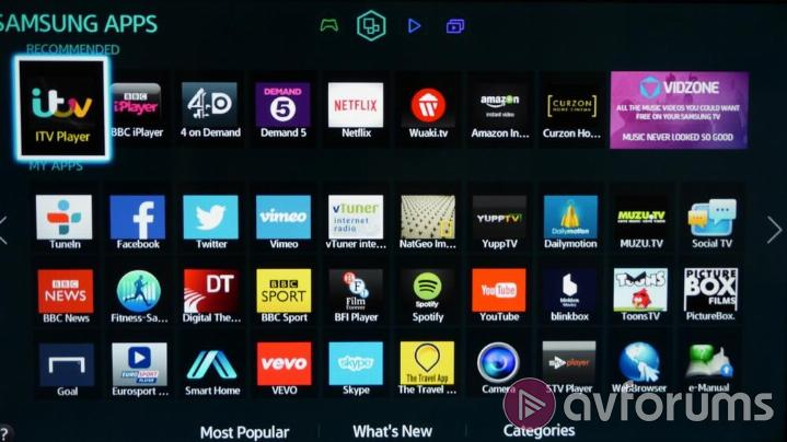 Samsung UE40H6500 Samsung Smart TV Apps