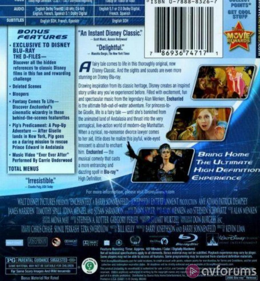 Enchanted Blu-ray Review