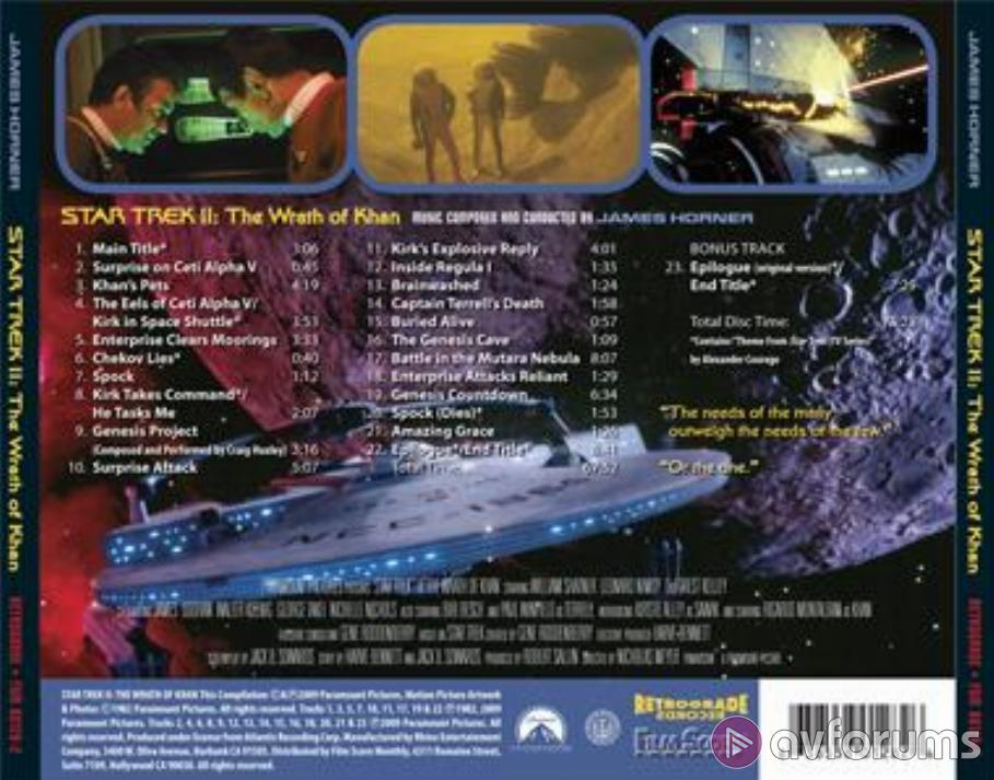 Star Trek: The Wrath of Khan - Expanded Original Motion Picture Soundrack Soundtrack Review
