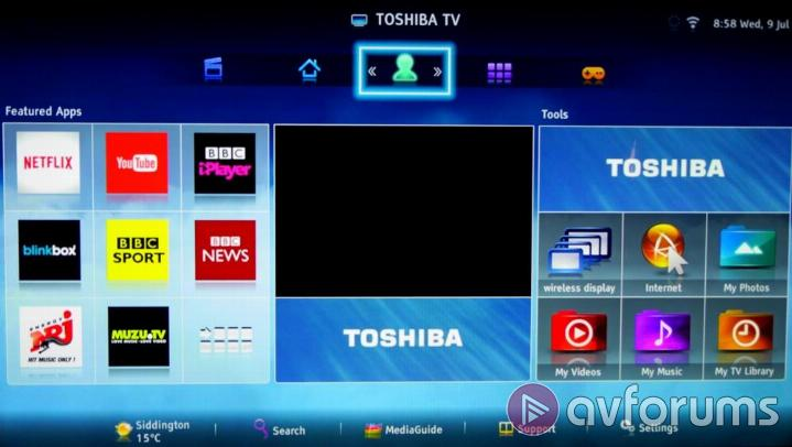 Toshiba Smart TV System 2014 User Interface, EPG & PVR Functions
