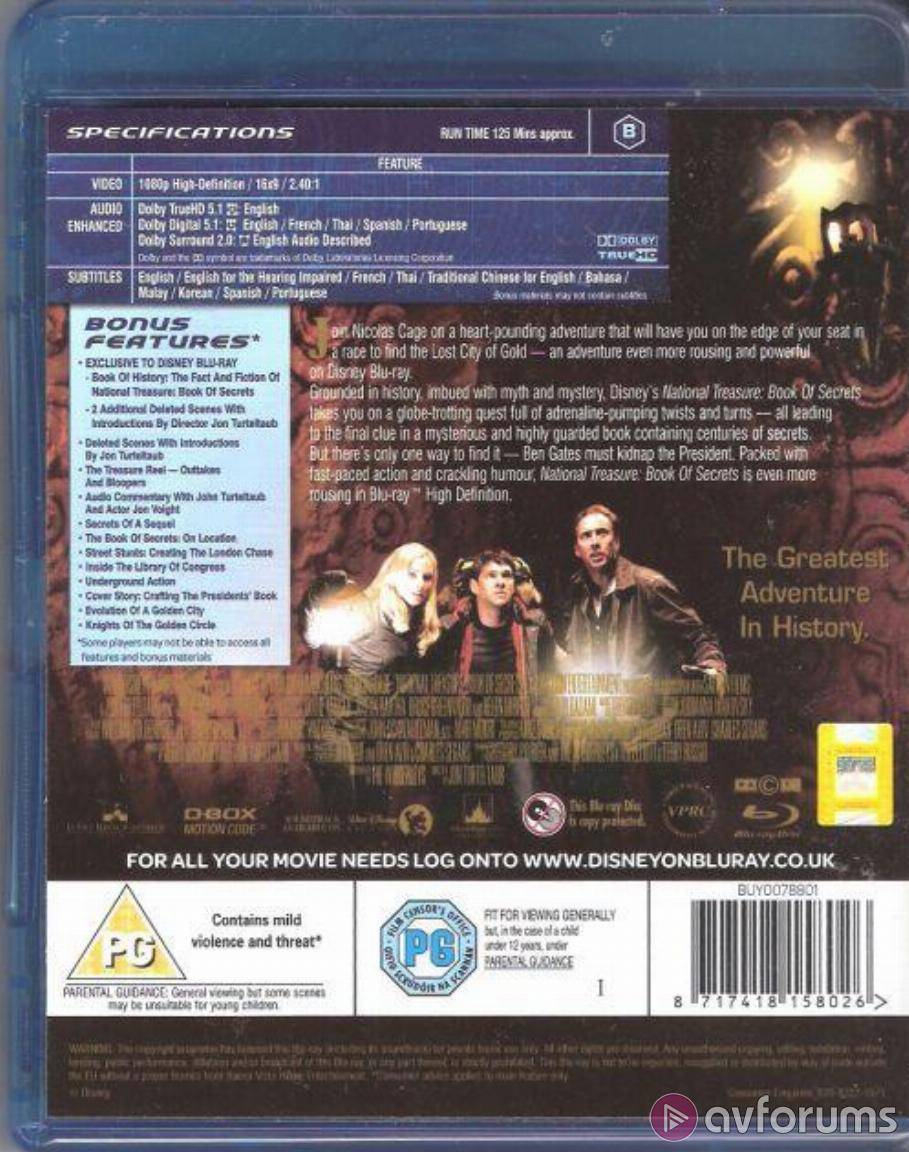 National Treasure 2: Book of Secrets Blu-ray Review