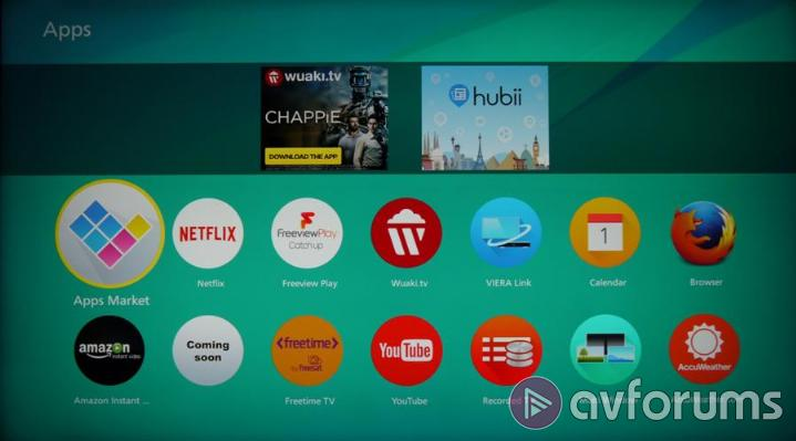 Panasonic Smart TV System 2015 Home Screen 2.0