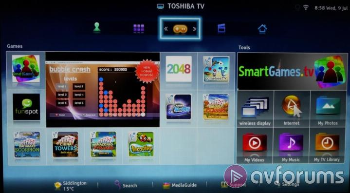 Toshiba 47L6453D Smart TV features