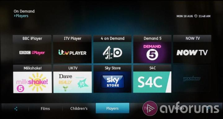 Humax YouView DTR-T2000 DTR-T2000 Catch-up and Streaming Services