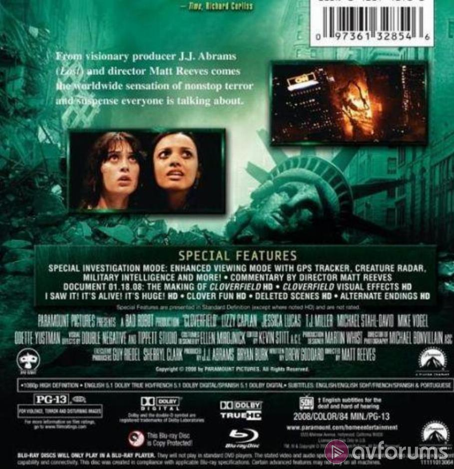 Cloverfield Blu-ray Review