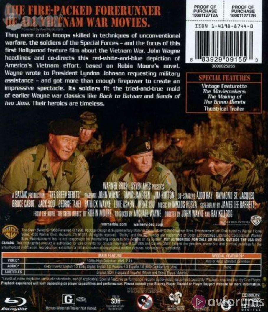 The Green Berets Blu-ray Review