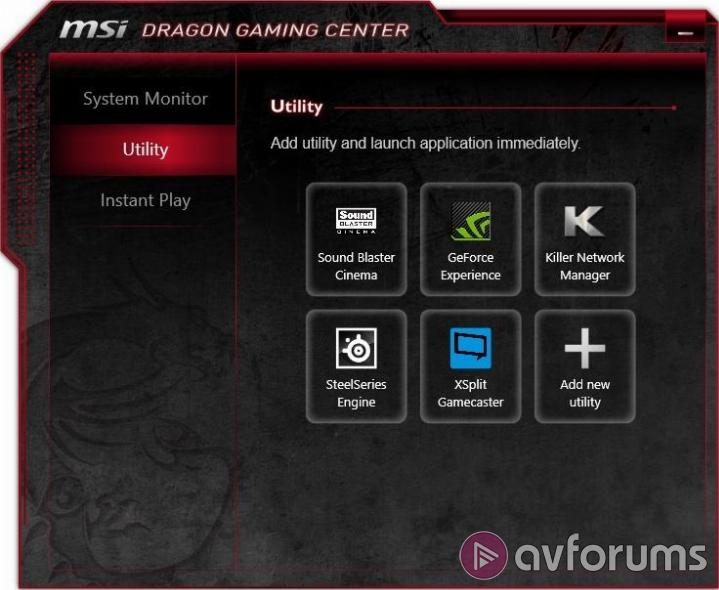 MSI GE70 2PE Pre-installed software