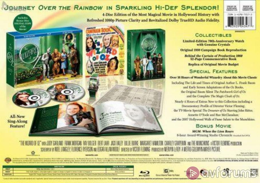 The Wizard Of Oz Blu-ray Review