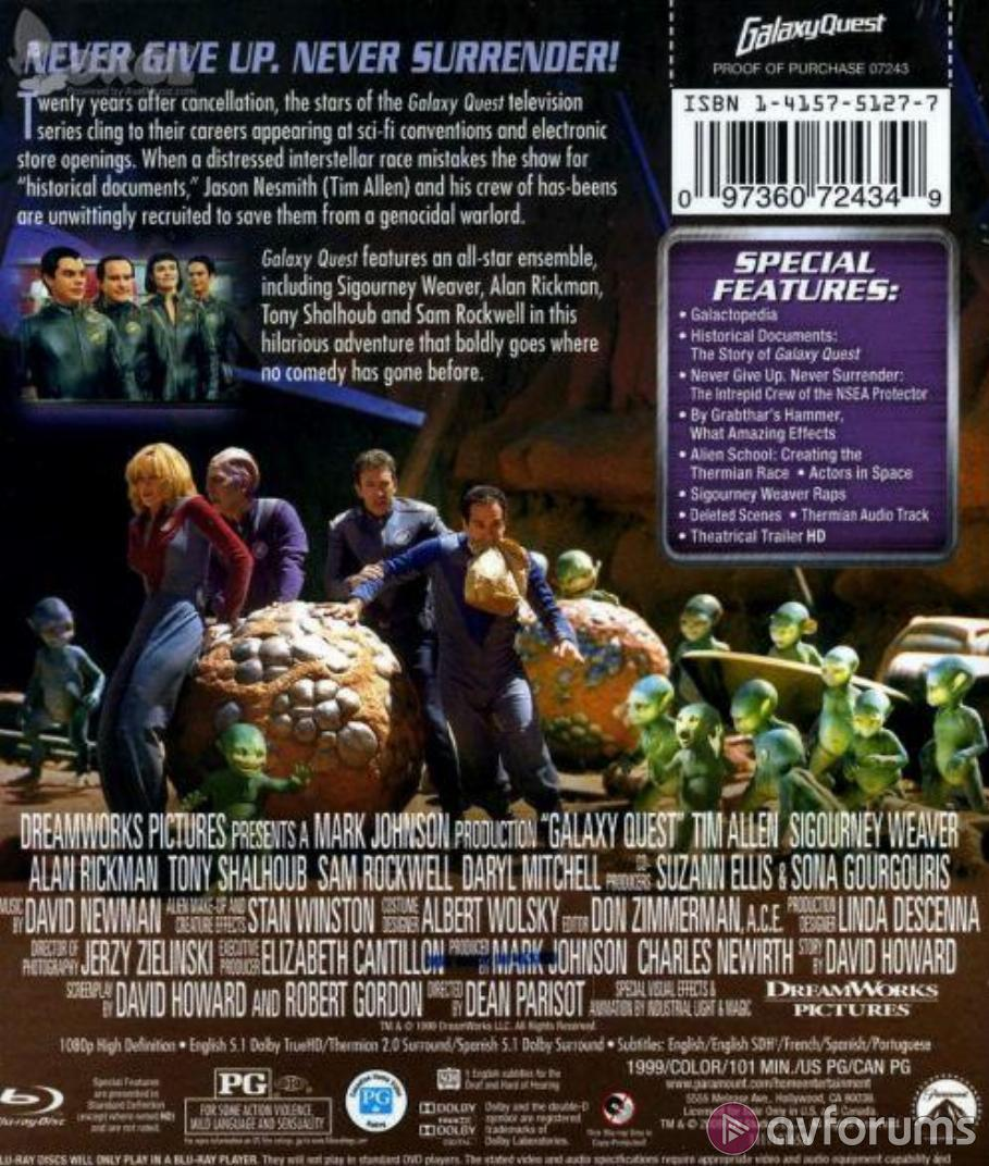 Galaxy Quest Blu-ray Review