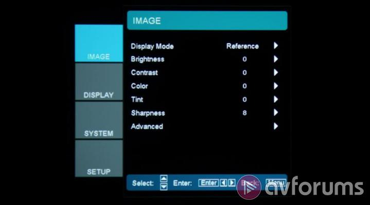 Optoma HD50 Menus