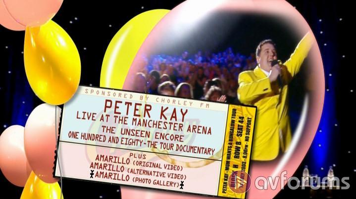 Peter Kay Live: At The Manchester Arena Special Edition Extras