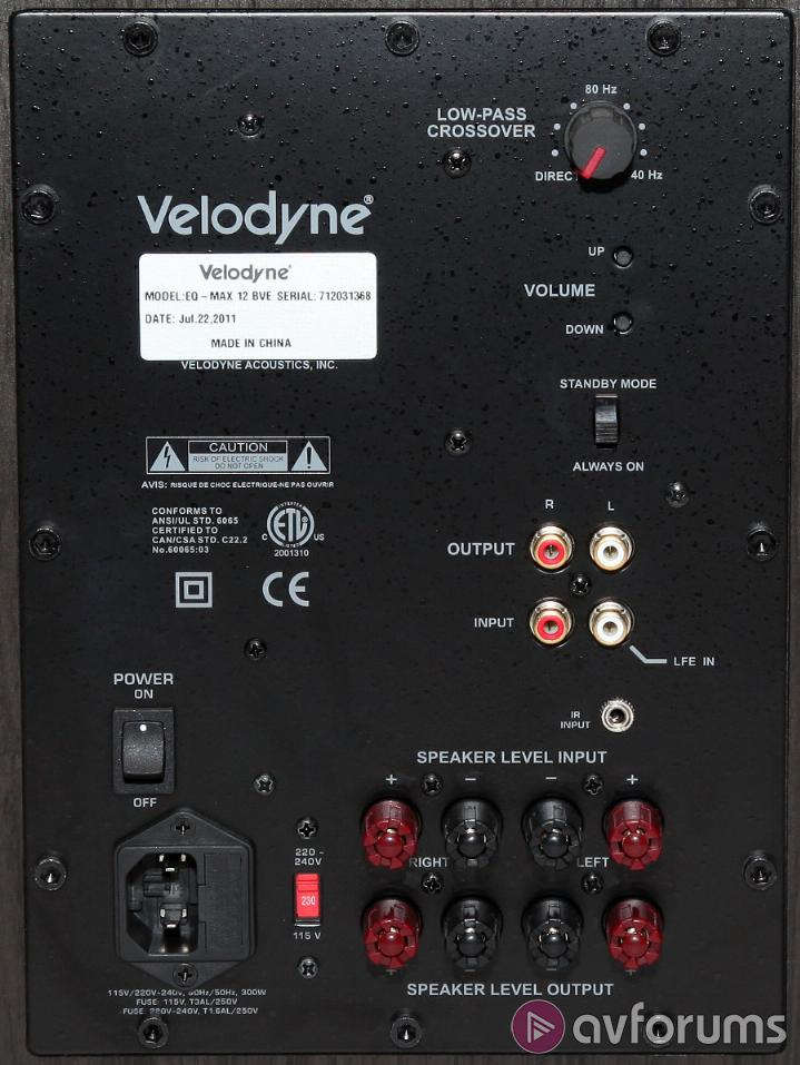 velodyne eq max 12 subwoofer avforums at amp t phone box wiring diagram