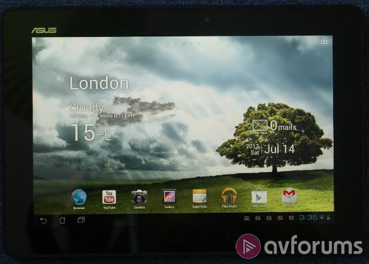 Asus Transformer Pad TF300T Home Screen, Interface and Pre-installed Apps