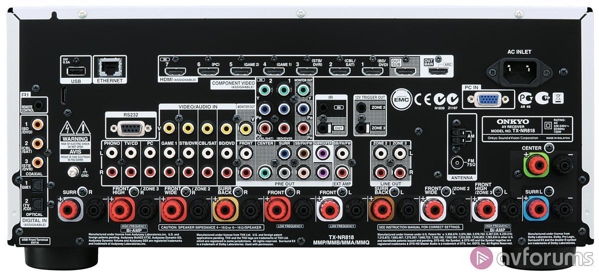 Onkyo TX-NR818 AV Receiver Review | AVForums