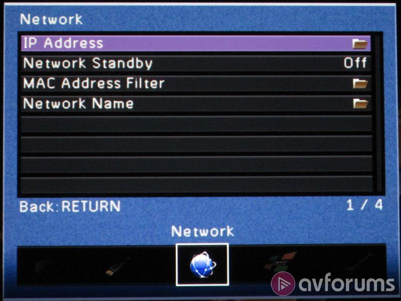 how to find ip address of yamaha receiver