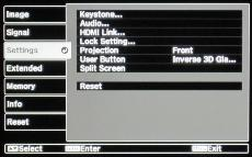 Epson EH-TW6100 Menus and Setup