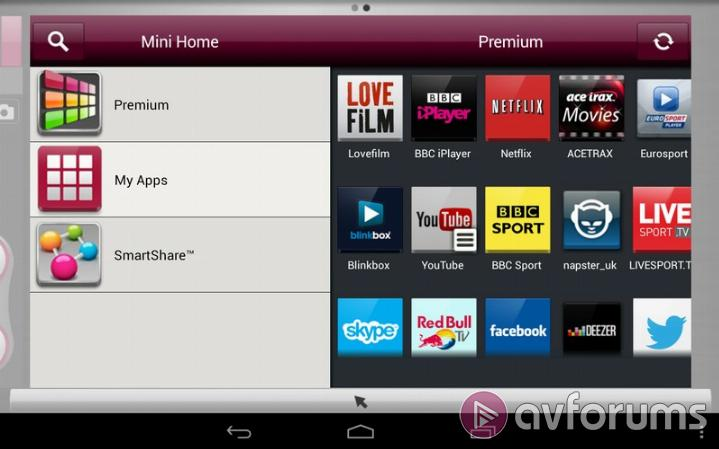 LG Smart TV System 2013 Mobile app