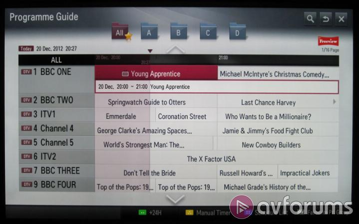 LG Smart TV System 2013 EPG Quality & PVR Features