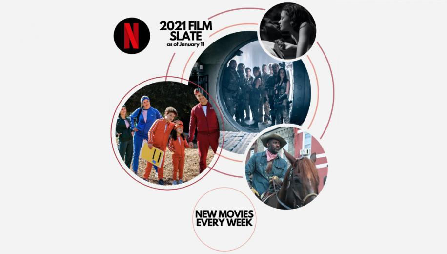Netflix pledges new movie premiere every week in 2021