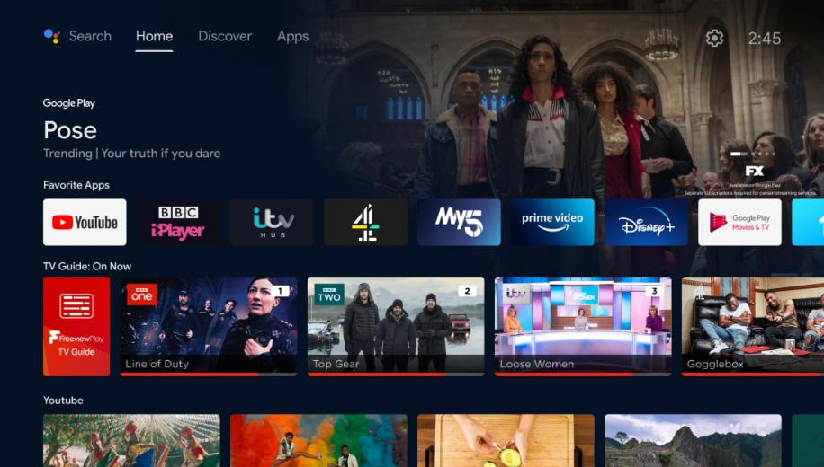 Freeview Play viewers get Android TV homescreen update