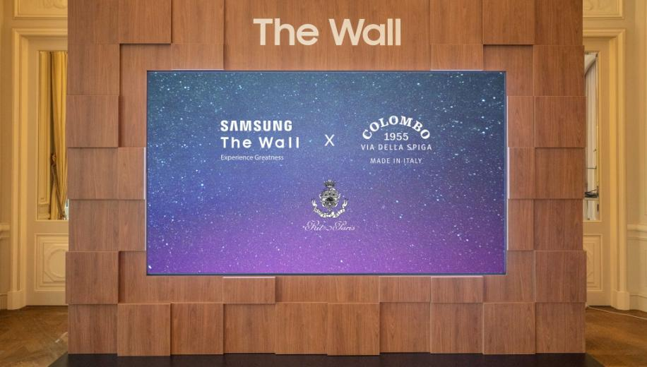 Samsung's The Wall Luxury MicroLED display on show at exclusive locations