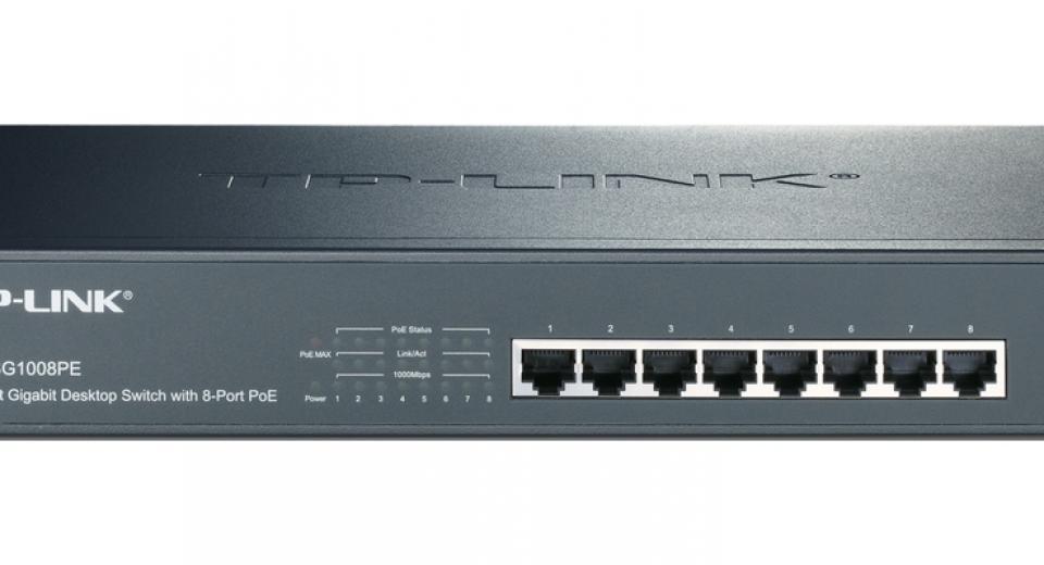 TP-LINK TL-SG1008PE Gigabit Desktop Switch
