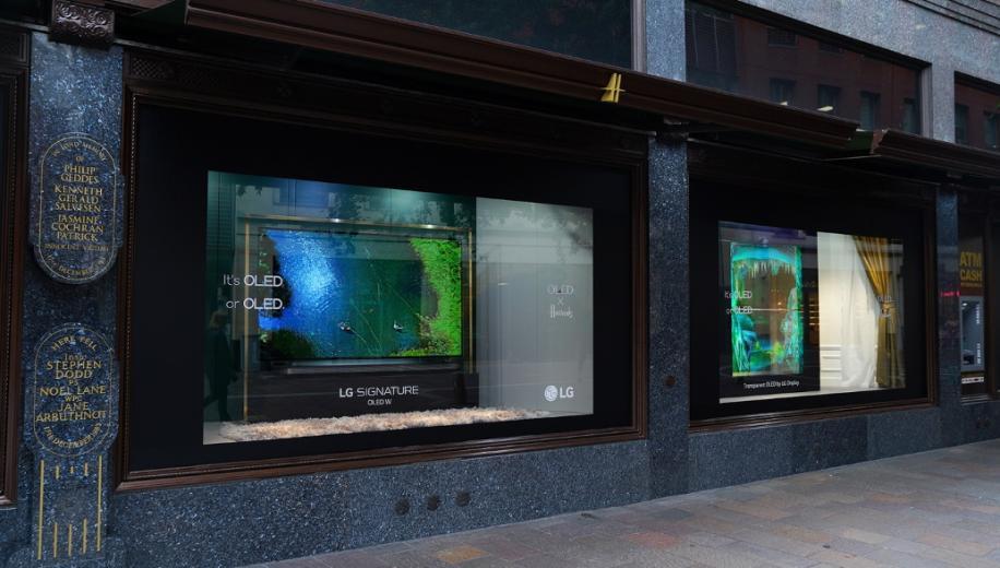 LG showcases transparent OLED displays at Harrods