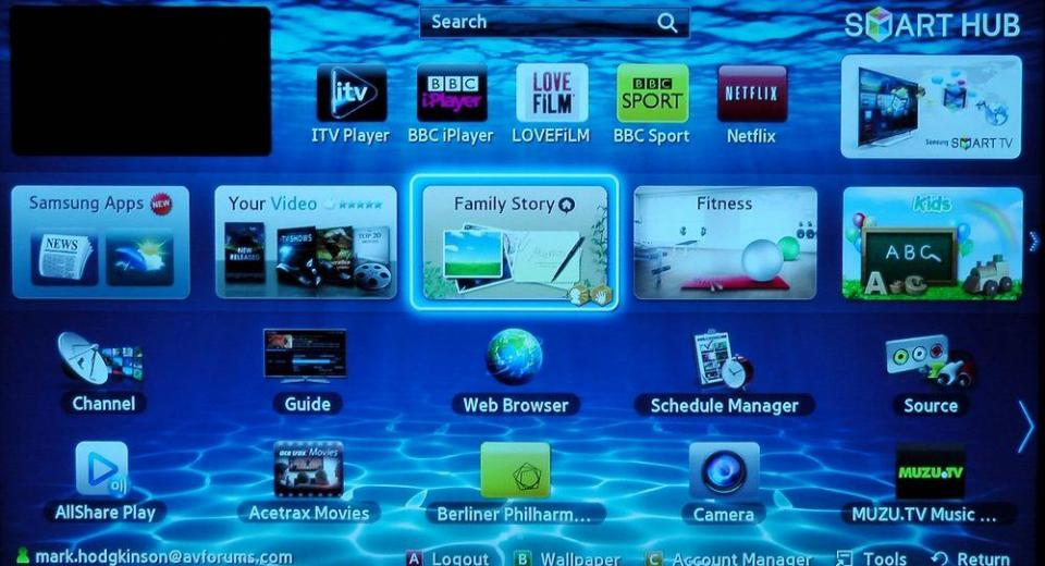Samsung Smart TV System 2012 Review