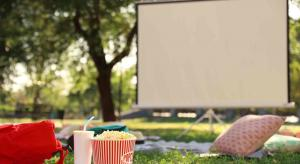 What do owners of outdoor cinema setups recommend for audio?