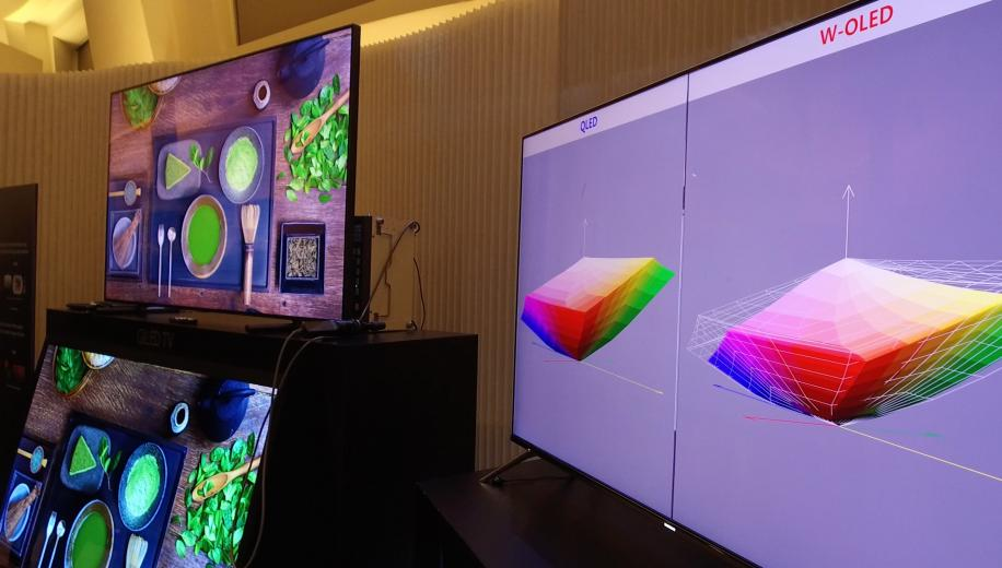 Samsung emphasise colour volume on their new QLED HDR TVs