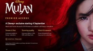 Disney+ UK confirms Mulan for £19.99