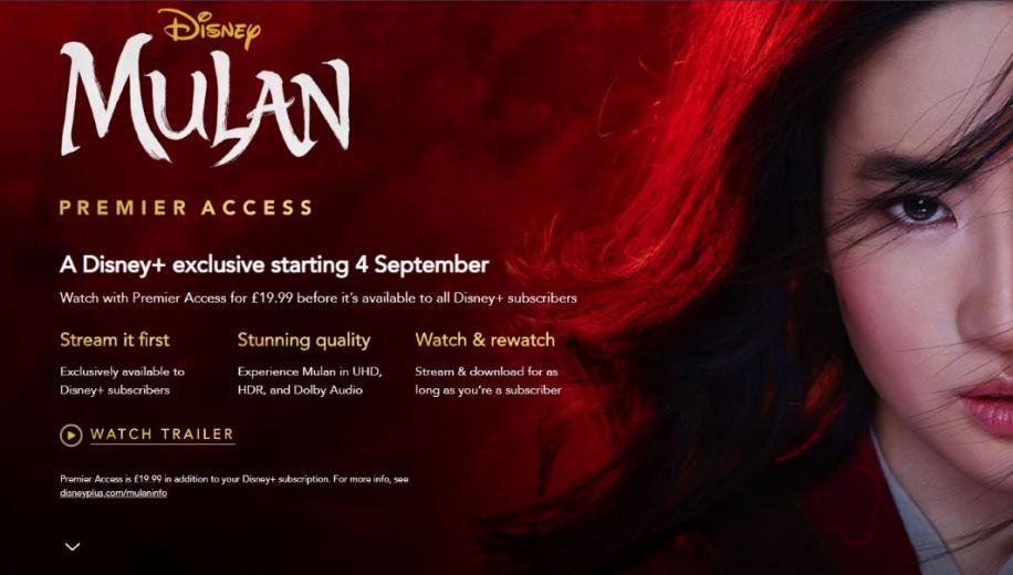 Disney+ UK confirms Mulan for £19.99