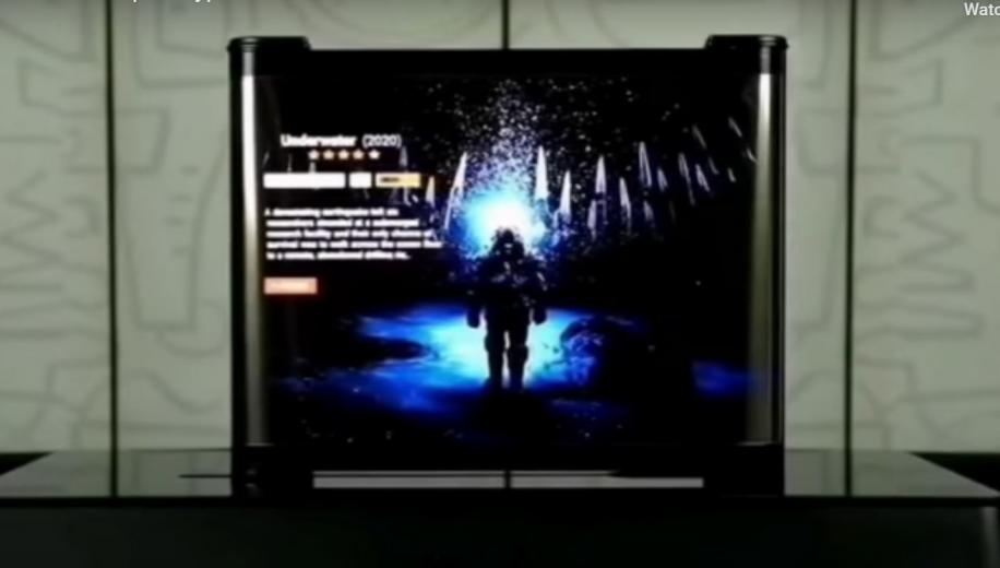 TCL previews sideways rollable OLED TV