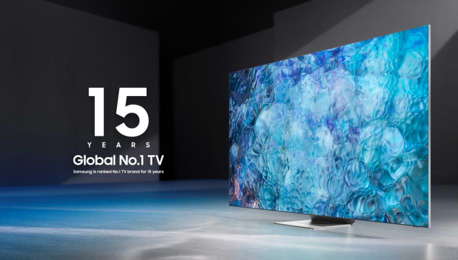 Samsung ranked No.1 TV brand for 15th year running