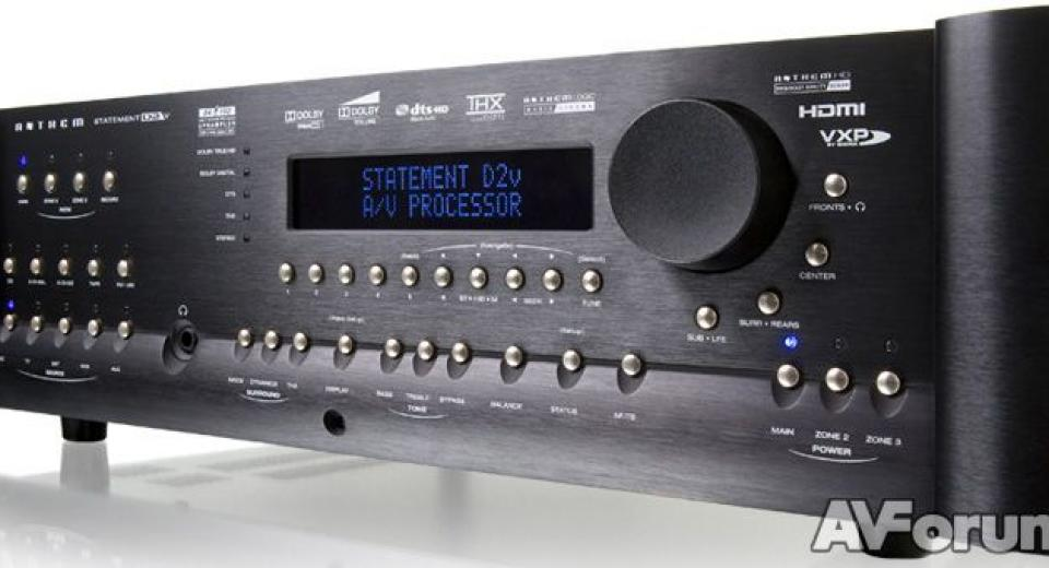 Anthem D2V Processor and A5  Amplifier Review