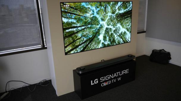 Kết quả hình ảnh cho LG 65W7 Wallpaper 4K OLED TV Hands-on Review