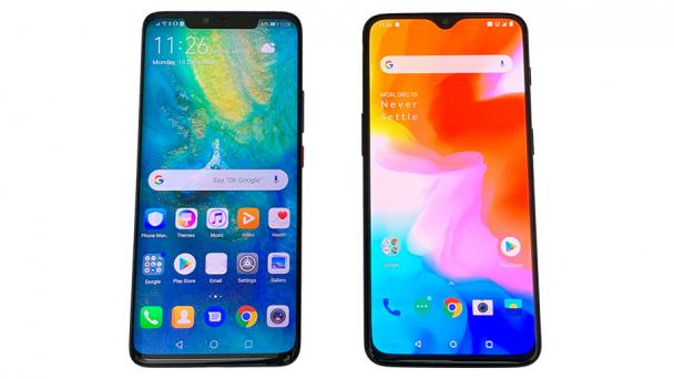 Huawei Mate 20 Pro vs OnePlus 6T Smartphone Comparison Review