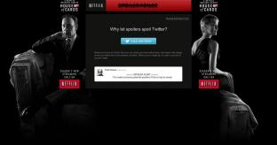 #SpoilerFoiler tool issued by Netflix to combat House of Cards plot reveals on Twitter