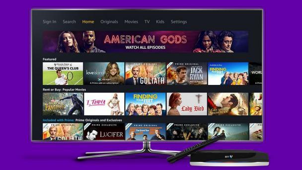 Amazon Prime Video now on BT TV