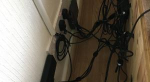How do you keep the cables behind your TV tidy?